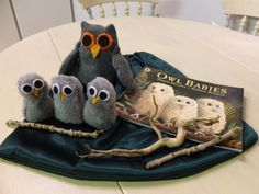 Owl Babies story sack. Just need to add some leaves and feathers etc.