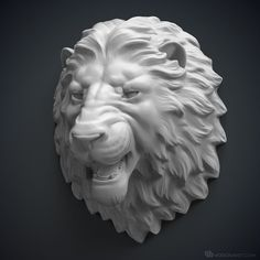 Angry Lion head 3d model. ready for 3d-printing, CNC manufacturing