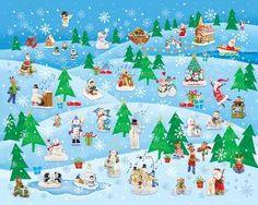 Winter Wonderland, a 1000 piece jigsaw puzzle by Springbok Puzzles.
