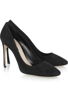 MIU MIU Suede Pumps Black