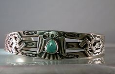 Gift for the Collector of fabulous vintage silver jewelry! 1930s Fred Harvey Navajo Cuff Bracelet. by DanPickedMinerals, $245.00