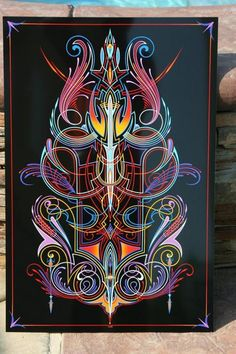 One shot hand paint motorcycles i like pinterest paint and a beautiful black panel with popping colorful pinstripe the colors line work scrolls publicscrutiny Gallery