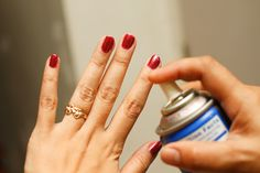 how did i not know this trick! wikiHow to Dry Nail Polish Quickly -- via wikiHow.com