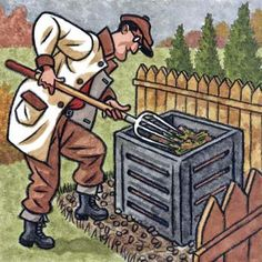 How to compost--from siting the pile to testing if it's done. | Illustration: Sean Kelly | thisoldhouse.com