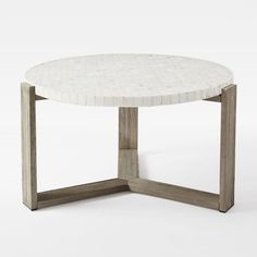 mosaic-coffee-table-white-marble-gardenista Nice table base
