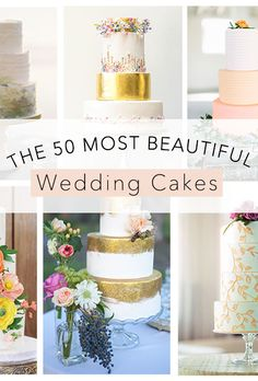 "Brides.com: . Looking for some wedding cake inspiration? You've come to the right place. We reached out to the best cake designers in the country (as well as a few on other continents!) and asked them to share their favorite, most memorable wedding creations. From there, we combed through the submissions to create this collection of 50 incredible, one-of-a-kind confections that will impress your guests, get tons of ""likes"" on Instagram and taste as delicious as they look.  We found a cake…"