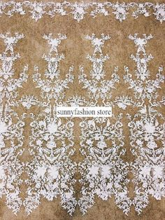 2016 New Design 3D Floral Bridal Lace Fabric ,Embroidery Ivory Lace Fabric for Wedding Dress ,Fashion Show Dress Lace Fabric