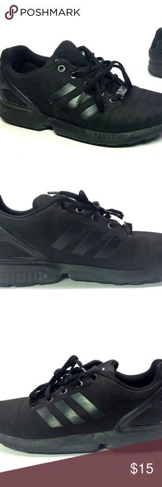 Adidas ZX Flux Torsion Black Mens Shoes Lace Ups In good condition. See photos.  If you have any questions feel free to contact us.  Shipping  Items ships 1-3 days after the purchase.  PLEASE NOTE: on occasion (at no additional charge) we will upgrade your shipping from economy USPS Retail Ground to USPS Priority Mail or to FedEx Ground    - or - from FedEx Ground to USPS Priority Mail.  Please let us know when you order if you need to keep the shipping the same as the stated service. adidas…