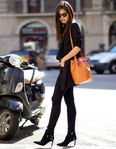 look street style bolsa saco camel