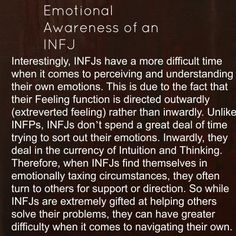 INFJ: Introvert iNtuituve Feeling Judging -- Best explanation of the emotional processing I experience that I've ever read. Infj Mbti, Intj And Infj, Infj Type, Isfj, Infj Traits, Myers Briggs Personality Types, Infj Personality, Personality Psychology, Mantra