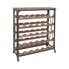 With a look evoking a classic Napa winery, this Cassandra Wine Table with Rack is a charming addition to your entertaining arsenal. Made from metal and wood with an aged, vintage look, this table and r...  Find the Cassandra Wine Table with Rack, as seen in the Lovely French Farmhouse Collection at http://dotandbo.com/collections/lovely-french-farmhouse?utm_source=pinterest&utm_medium=organic&db_sku=111706