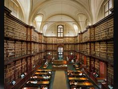 Angelica Library (Biblioteca Angelica) public library in the Piazza Sant'Agostino square, Rome, Italy . established in 1609 second library in Italy opened for public service, houses archives of the Academy of Arcadia Beautiful Library, Dream Library, Library Quotes, Library Books, Book Quotes, World Library, Small Space Interior Design, Personal Library, Public Service