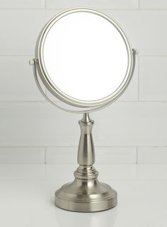 Brushed chrome super magnifying mirror - BHS