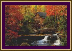 The Old Mill - Counted Cross Stitch Pattern