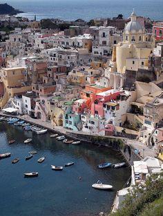Procida Island, Naples, Camapania, Italy Town of Il Postino
