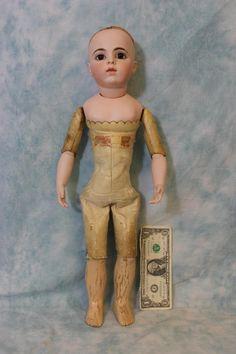 20 Inch Antique Bru Jne French Bisque Doll Glass Paperweight eyes from turnofthecenturyantiques on Ruby Lane