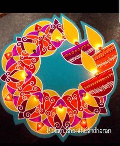 Happy Diwali Rangoli, Easy Rangoli Designs Diwali, Rangoli Designs Latest, Simple Rangoli Designs Images, Free Hand Rangoli Design, Small Rangoli Design, Rangoli Border Designs, Rangoli Ideas, Colorful Rangoli Designs