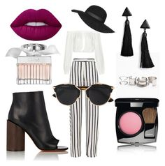 Stripes r the best by firlyfie on Polyvore featuring polyvore, fashion, style, Elizabeth and James, Nicholas, Givenchy, Free People, Boohoo, Christian Dior, Topshop, Chanel, Lime Crime, Chloé and clothing