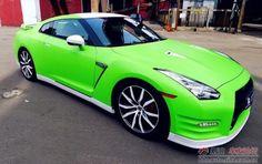 Neon Green 2017 Skyline Gtr Fast Beautiful Car