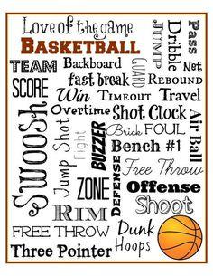 Basketball Subway Art Free Printable – Mini Van Dreams Source by foxzheather Free Basketball, Basketball Birthday Parties, Basketball Tricks, Basketball Is Life, Basketball Gifts, Basketball Quotes, Basketball Players, Girls Basketball, Sports Gifts