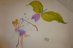 faries tinkerbell vlieger vlinder muurschildering