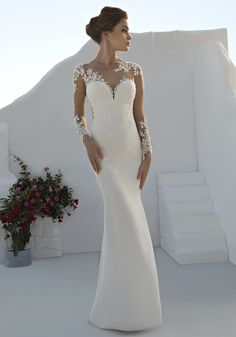 These dream-like Mark Lesley wedding dresses will ensure you look nothing but incredible on your big day. *More wedding dress ideas! The 14 emotional stages of wedding dress shopping and how do you know when you've found your dream wedding dress* Red Bridesmaid Dresses, Long Wedding Dresses, Elegant Wedding Dress, Designer Wedding Dresses, Bridal Dresses, Wedding Lace, Wedding Dress Shopping, Wedding Attire, Beautiful Gowns