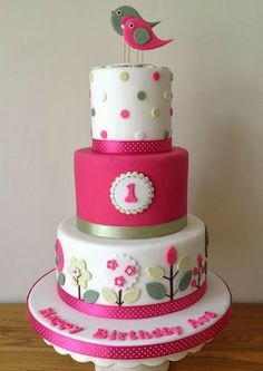 Cute Pink Woodland Cake
