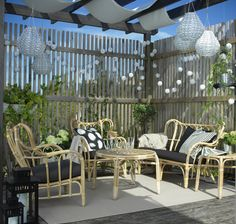 MASTHOLMEN 4-zits zitgroep | IKEA IKEAnl IKEAnederland inspiratie wooninspiratie interieur wooninterieur bamboe stoel kamer woonkamer buiten balkon tuin duurzaam handgemaakt uniek meubel meubels