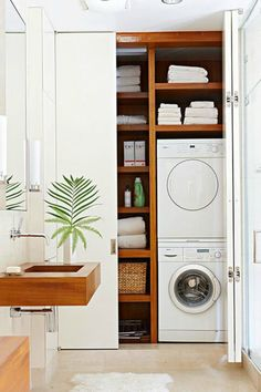 """Awesome """"laundry room storage small shelves"""" information is readily available on our website. Read more and you wont be sorry you did. Laundry Cupboard, Laundry Nook, Laundry Room Layouts, Laundry Room Shelves, Laundry Closet, Laundry Room Organization, Laundry In Bathroom, Modern Laundry Rooms, Laundry Room Inspiration"""