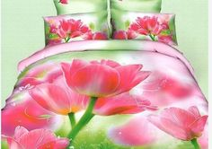 Pościel 3D czerwone tulipany dostępna w sklepie kasandra.com.pl King Size Bedding Sets, Cheap Bedding Sets, Bedclothes, Oil Painting Flowers, Pink Room, Red Roses, Wedding Decorations, Rooms, Cover Pillow