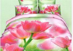 Pościel 3D czerwone tulipany dostępna w sklepie kasandra.com.pl