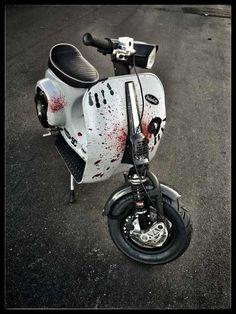 Homicide. Vespa Bike, Piaggio Vespa, Vespa Scooters, Motorcycle Design, Bike Design, Vespa Et2, Vespa Smallframe, Duke Bike, Scooter Custom