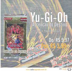 Booster Yu-Gi-Oh Ascensão do Destino  Confira: http://www.solosagrado.com.br/produto/82/Yugioh-Ascencao-do-Destino-Booster
