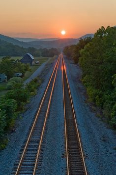 Sunset over the train tracks.....