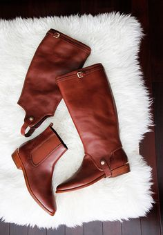 convertible boots from coach - genius.  Umm those are called boots and half chaps and us horse people have been doing it for years... Just saying.