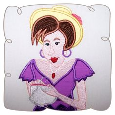 Gwyneth Quilt Lady 7: Embroidershoppe Machine Embroidery Applique, Custom Embroidery, Embroidery Thread, Applique Designs, Designing Women, Free Design, Disney Characters, Fictional Characters, Quilts