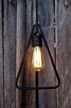 Black triangle pendant light by valodesign.com.au #industrial #pendantlight