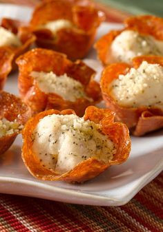 Pepperoni-Parmesan Chicken Bites — Ready for the oven after just 15 minutes prep, this delicious appetizer recipe is sure to make your next party more delicious!