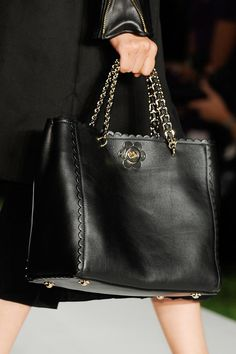 Cecily Tote with Flower in Black mulberry S/S 2013