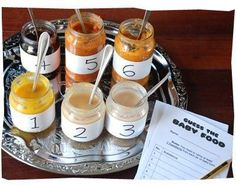Baby shower game: taste test to guess the baby food