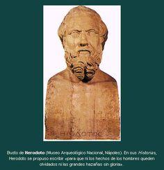 Busto do historiador e geógrafo grego Heródoto