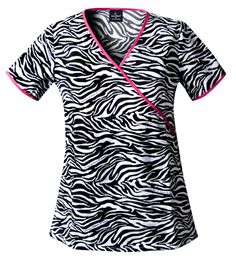 Baby Phat Phat Kingdom Cotton Mock Wrap Tunic Animal Instinct XX-Large - A slim fitting mock wrap tunic sports a new longer length and features two side inset pockets and a coin pocket. Contrast binding around the neckline, back tie and sleeve Baby Phat Scrubs, Cute Scrubs, Work Uniforms, Nursing Uniforms, Nursing Career, Scrubs Uniform, Medical Scrubs, Nursing Scrubs, Nursing Clothes