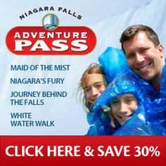 Niagara Adventure Pass (Maid of the mist, Niagara's fury, journey behind the falls, white water walk)