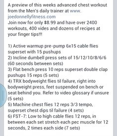 Joe Donnelly Advanced Chest Workout
