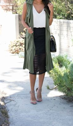 fall must-have: olive duster