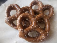 Polymer clay Pretzels American girl doll food sized by Bananamoo, $9.00