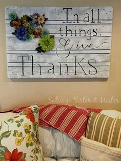 The easiest DIY pallet sign I have ever done. Plus, I had all the materials on hand so it didn't cost me anything to make. #palletfurniture #diy #diypallet