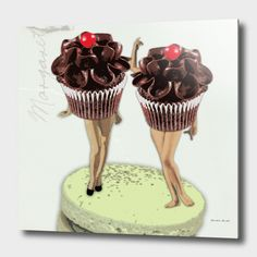 Discover «Miss Twin Chocolate Cupcake», Numbered Edition Aluminum Print by Michele Meehl - From $59 - Curioos