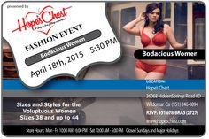 APRIL EVENT! Bodacious Women Fashion Show! Showcasing plus size Bras, Bathing Suits, Lingerie and more! April 18th, 2015
