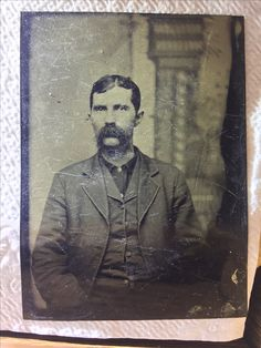 Virgil Earp---Appearing here on a tintype. Original image from the collection of P. W. Butler.